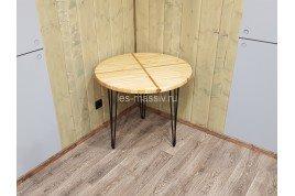 Круглый стол в стиле лофт